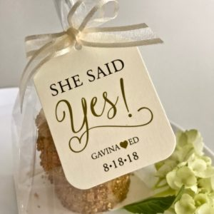 engagement party cookie favors