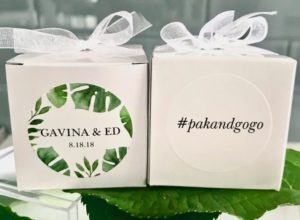 wedding favors with hashtags