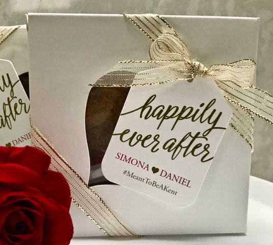 Wedding favors with your hashtag