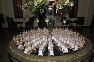 wedding favors at Oheka Castle