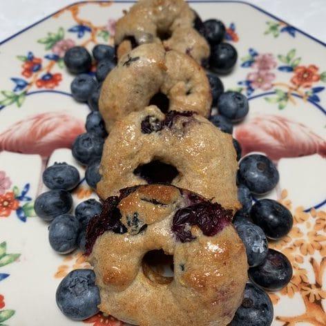 Light lemon blueberry donuts