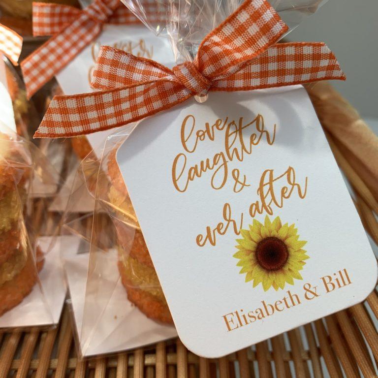 Long Island wedding cookie favors
