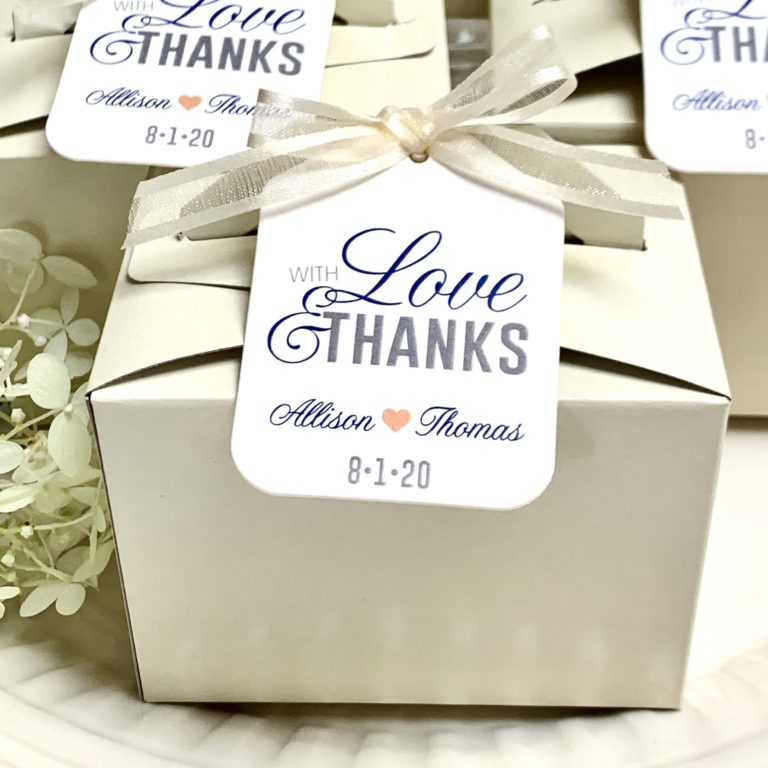 Love and thanks wedding favors