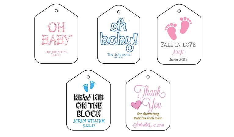 Baby Shower Tags - Fresh Flours LLC