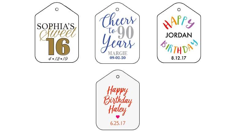 Birthday Tags - Fresh Flours LLC