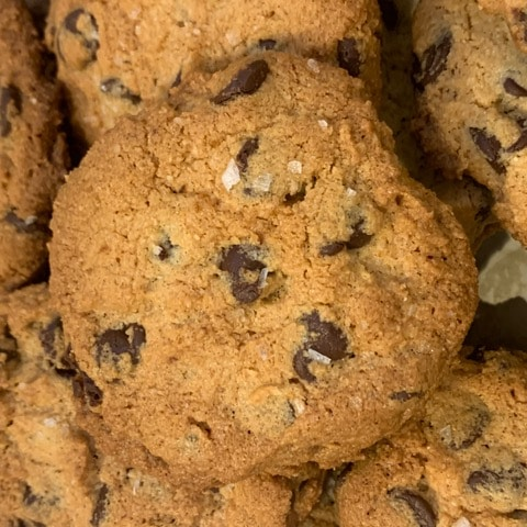 Almond Flour Chocolate Chip Cookies -GF