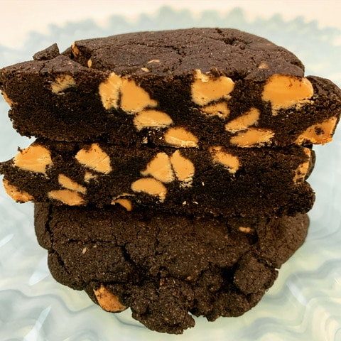 Dark Chocolate Peanut Butter Chip Cookies -GF