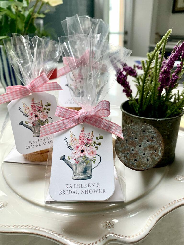 custom cookie favors for wedding shower