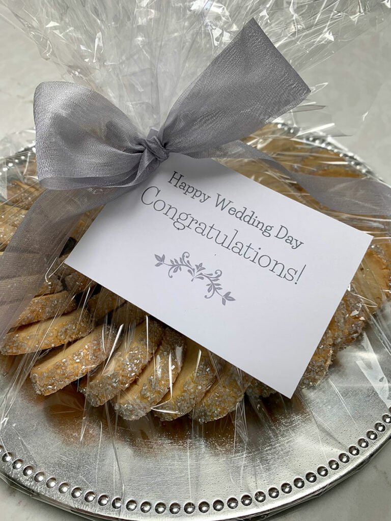 cookie platter for wedding party