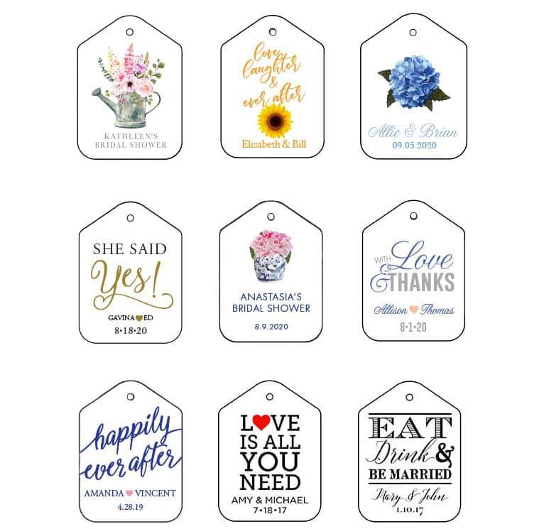 Wedding Tags - Fresh Flours LLC